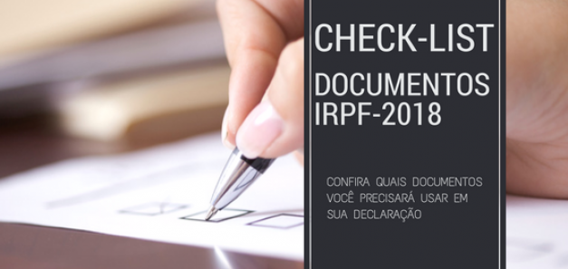 Check-list IRPF 2018