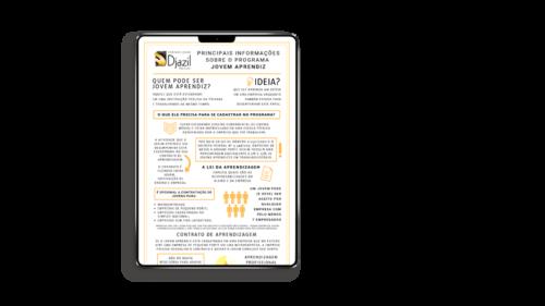 [INFOGRÁFICO] Principais informações sobre o programa Jovem Aprendiz
